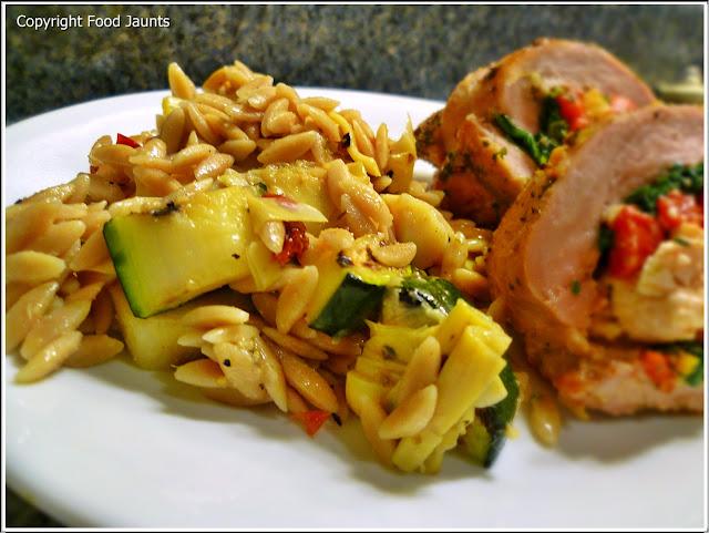 Grilled Zucchini Pasta Salad