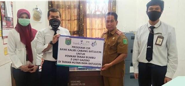 Perindah Tahura Batulicin, Bank Kalsel Sumbang 2 Gazebo