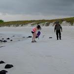Natalia breaking the law - Tortuga Beach, Santa Cruz, Galapagos