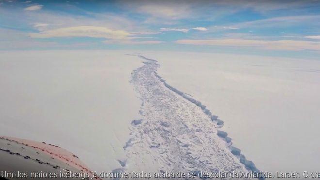 Um dos maiores icebergs já documentados acaba de se descolar da Antártida. Larsen C crack