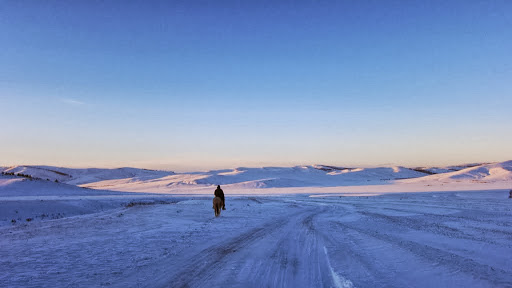 Mongolian countryside, December 2010. Photo by Ven. Sarah Thresher.