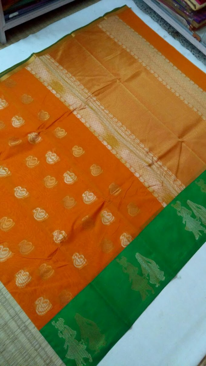 Latest Silk Cotton Sarees & Running Blouse