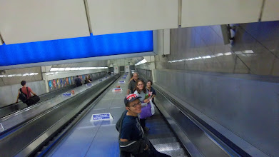 Photo: Some of the escalators down the tubes were long!