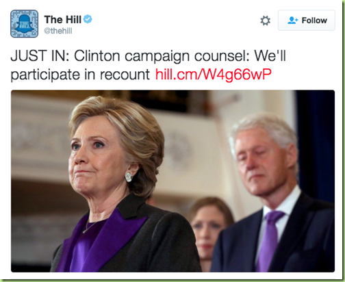 clintons for recount