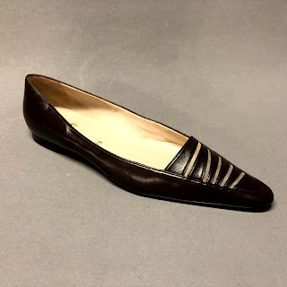 Christian Louboutin Brown Leather Flats