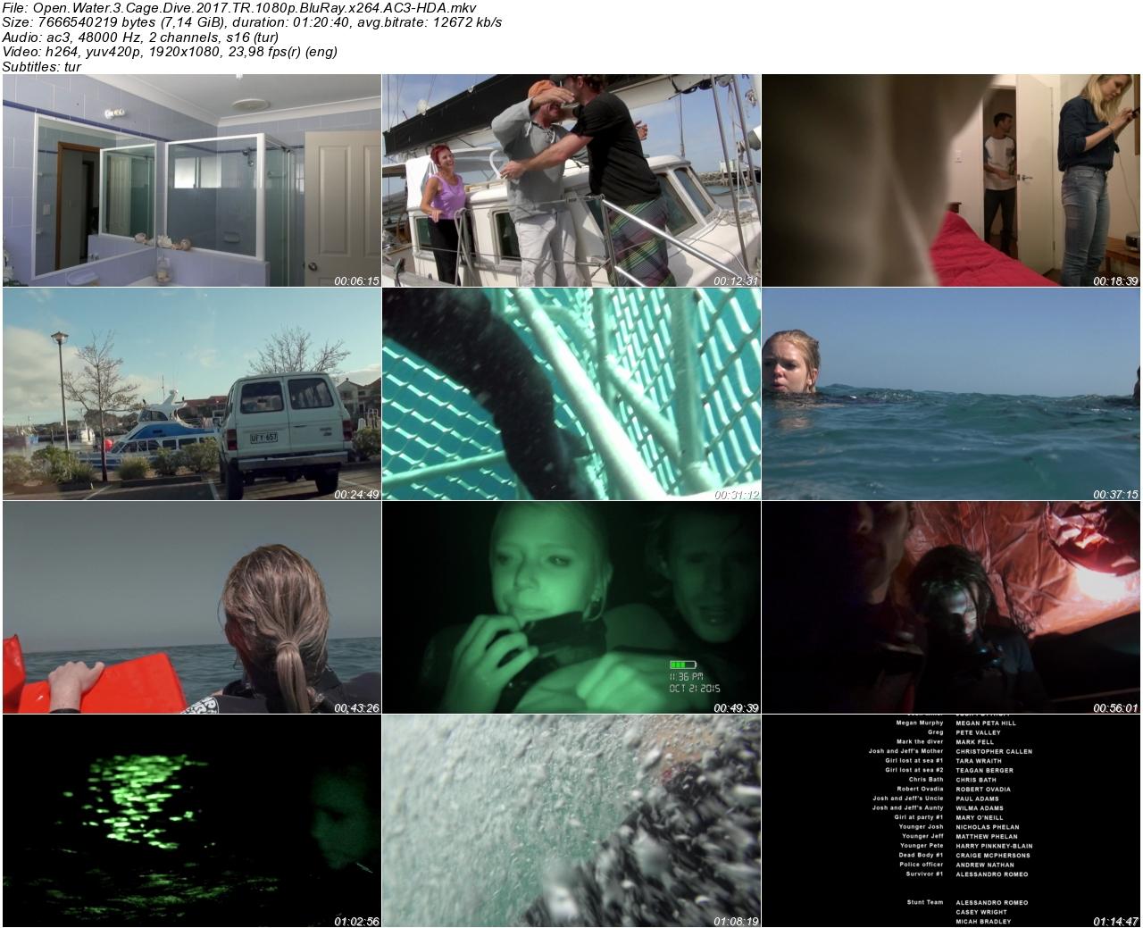 Açık Deniz 3 Kafes Dalışı 2017 - 1080p 720p 480p - Türkçe Dublaj Tek Link indir