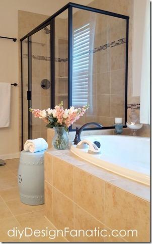 master bath, household helper, grab bar, temporary grab bar, farmhouse