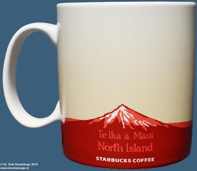 North Island -  Te Ika ā Māui Starbucks Coffee icon mug (back)