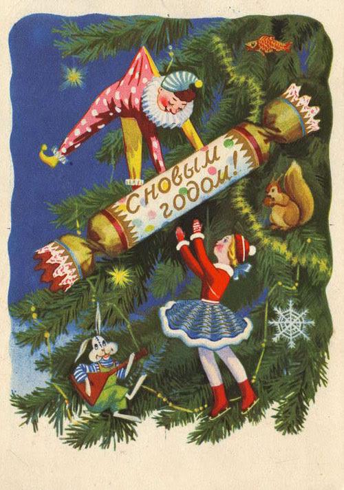 история, ссср, открытки, дети, новый год, праздник, музей детства