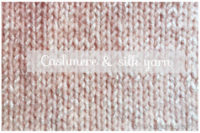 Cashmere silk powder pink color yarn phildar