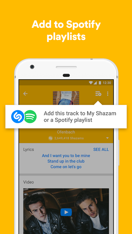 Shazam- screenshot