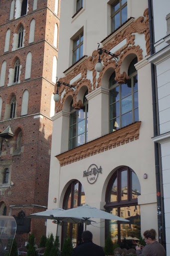 Hard Rock Cafe at the Main Market Square in Krakow