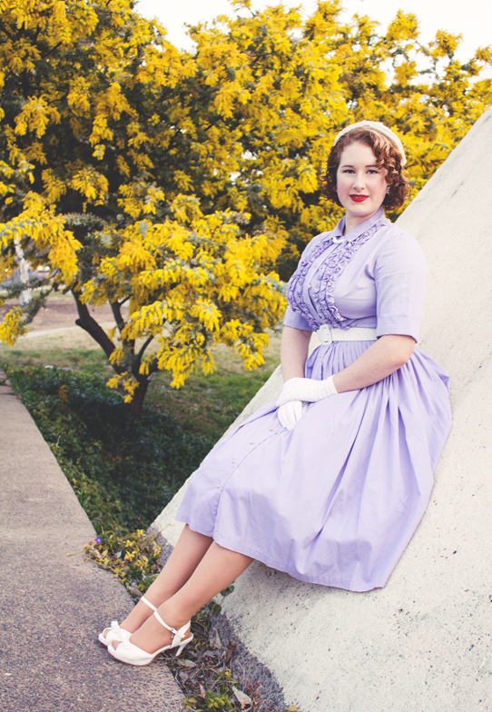 Vintage fashion in lavender | Lavender & Twill