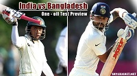 Bangladesh v India Test Match Broadcast