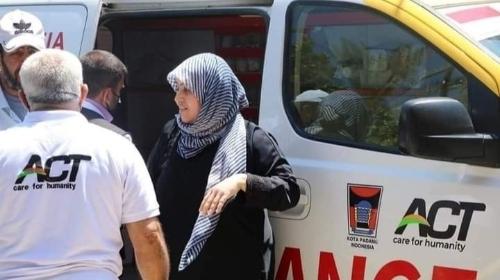 Ambulance Sumbangan Warga Padang Bantu Evakuasi Korban di Palestina