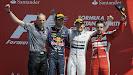 2013 British podium: 1. Rosberg 2. Webber 3. Alonso