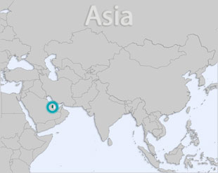 Qatar location map