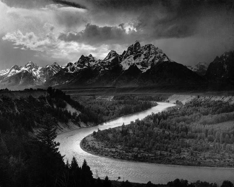 Ansel Adams의 Snake River Overlook