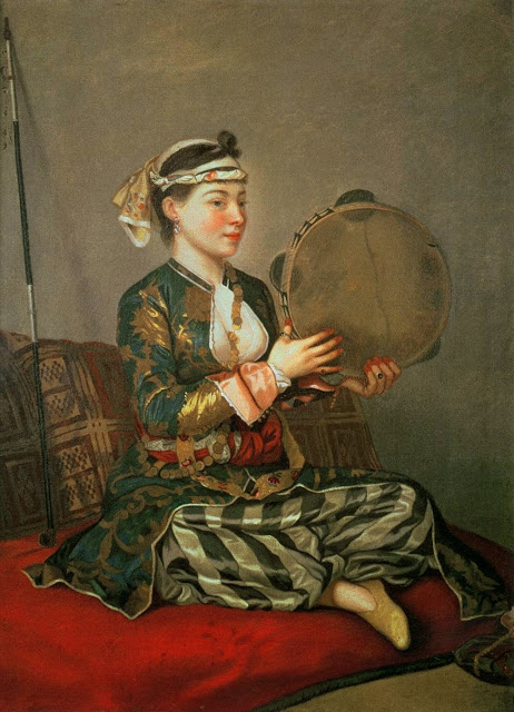 Jean-Étienne Liotard - Turkish Woman with a Tambourine