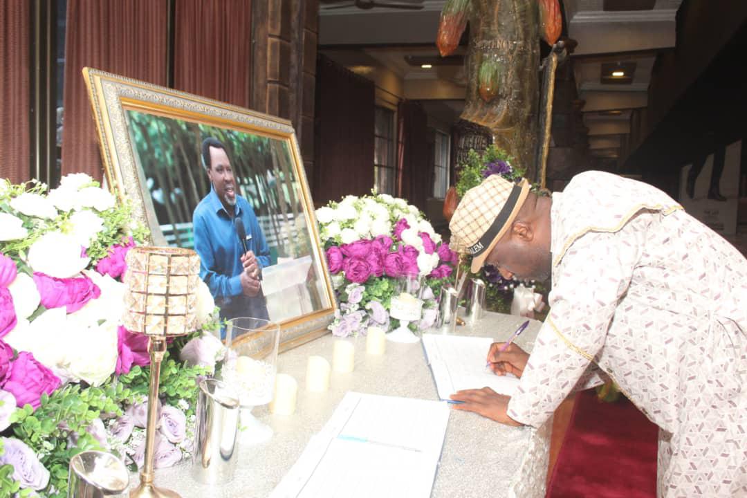Primate Ayodele Pays Condolence Visit To TB Joshua's Widow, Eulogizes Late Prophet
