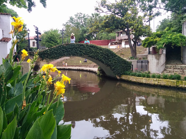Beautiful bridges on the SanAntonio river canals