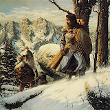 Warriors In Winter Forest