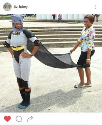 Photo Of OAU Female Student In Batman Outfit Goes Viral On Instagram