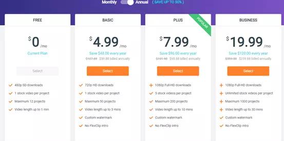 FlexClip-Pricing