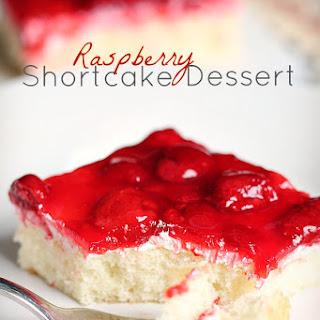 Raspberry Shortcake Dessert.
