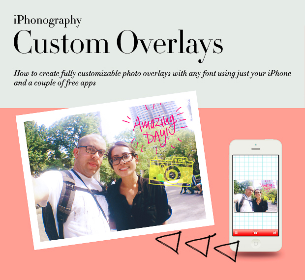 iPhonography // Custom Overlays Using iZip and Phonto // Tutorial