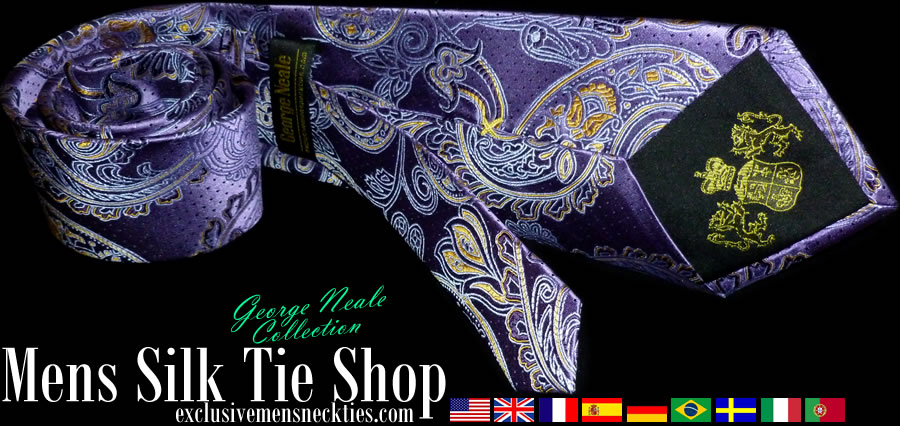 luxurious silk ties in london UK