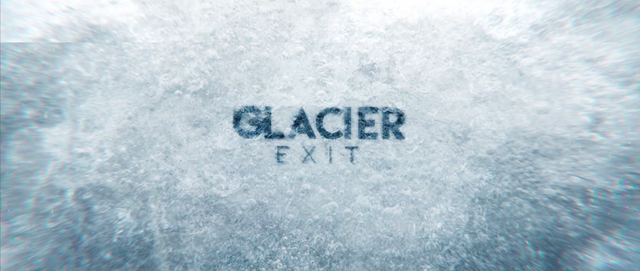 Screenshot from the film, 'Glacier Exit'. Graphic: Aura