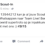 Scouting is helemaal into the WhatsApp