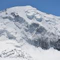 Pogled na Mt. Blanc masiv iz Tête Rousse