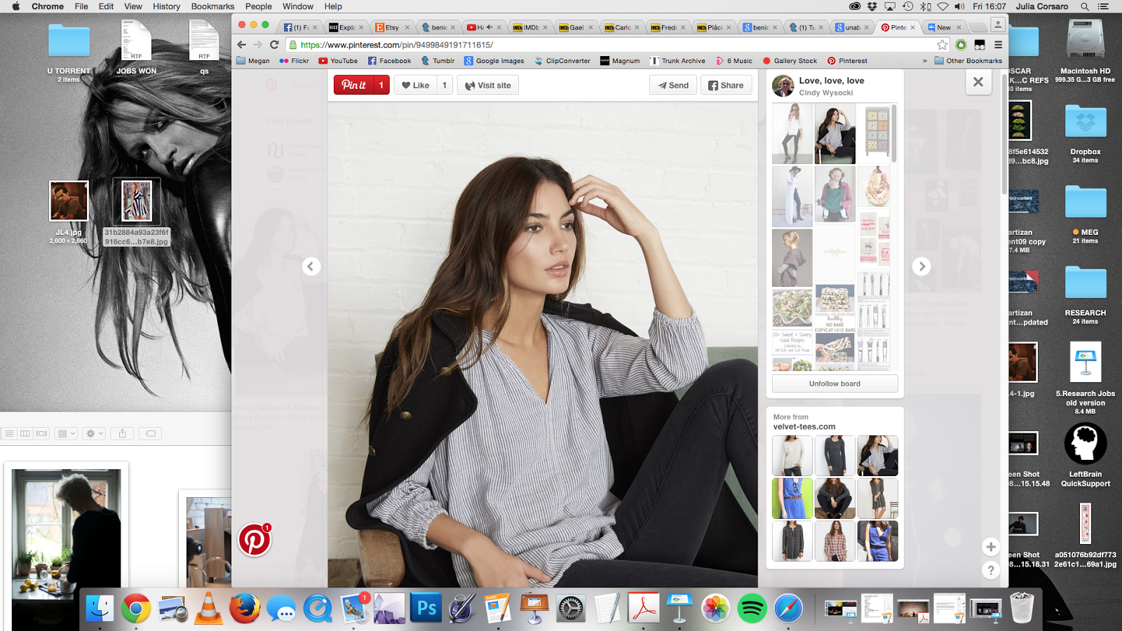 Problems dragging image from pinterest to desktop - Google