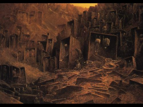 Zdzislaw Beksinski Funeral Of Alives, Death