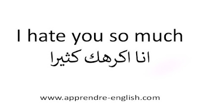 I hate you so much انا اكرهك كثيرا