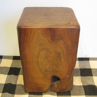 Solid Wood Block Accent Table