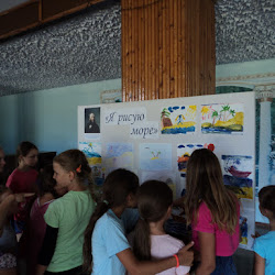 Выставка детских рисунков Новоивановского СДК «Я рисую море»