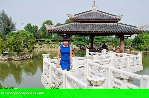 Hình 6: Tiểu cảnh đẹp mê ly trong sân vườn nhà sao Việt