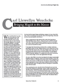 Cover of Michael Night Sky's Book Carl Liewellyn Weschcke Bringing Magick to the Masses