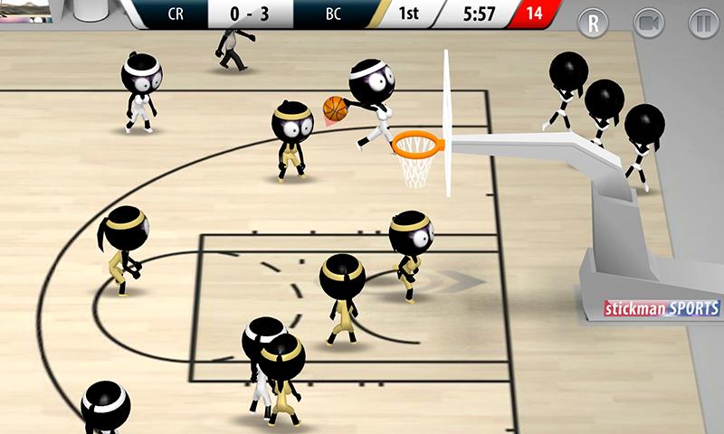 Stickman Basketball 2017 screenshot #3