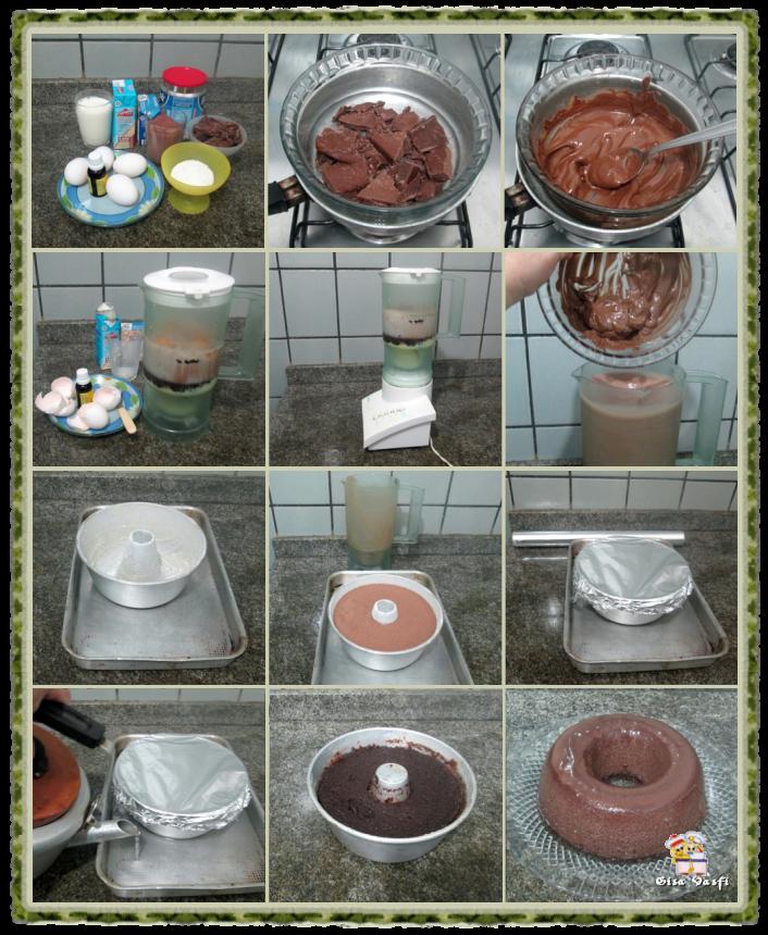 Pudim de chocolate ao leite 3