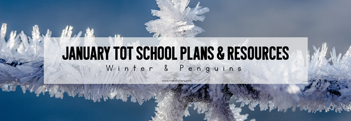 January Winter Penguin Tot School Plans
