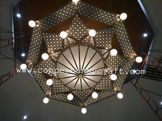 Lampu Gantung Hias Masjid dari Tembaga dan kuningan