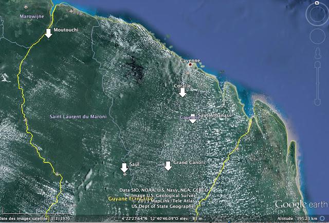 Guyane novembre 2013 : destinations envisagées