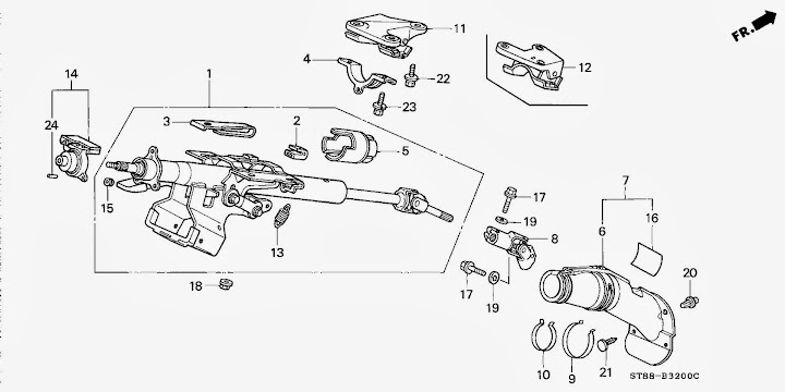 2000 subaru impreza steering diagram