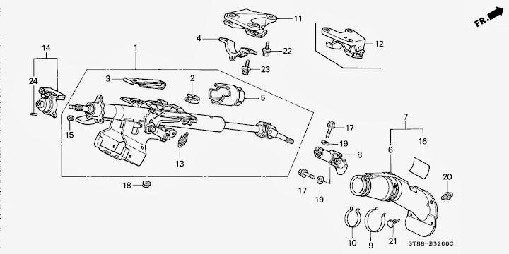 Honda Civic Steering Wiring \u2013 Electrical Schematic Diagrams