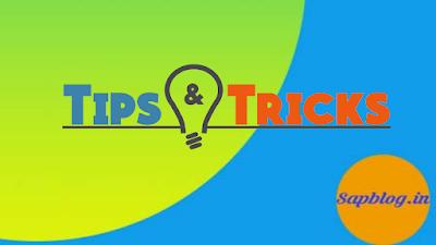 SAP Tips & Tricks