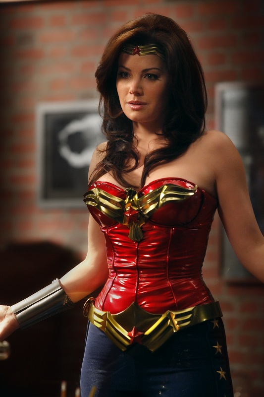 Erica Durance as Wonder Woman.